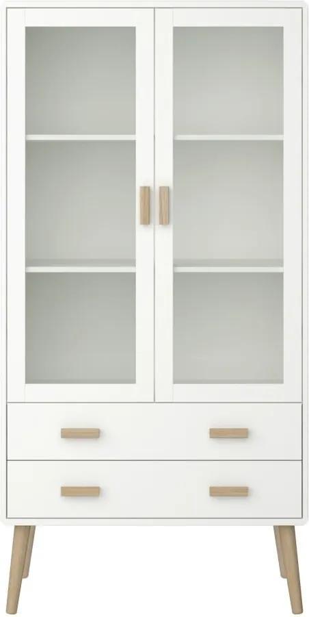 Krémovobiela vitrína Steens Pavona, výška 170,4 cm