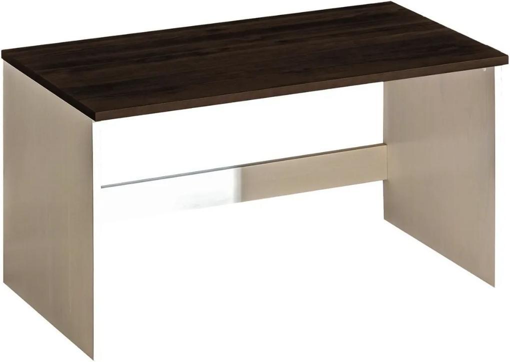 DL Písací stôl Alan 9 Farba: Biela/tmavohnedá