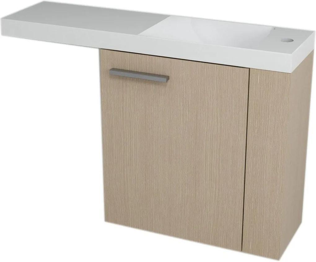 Latus VI 55880 umývadlová skrinka 50x50x22 cm, pravá, dub benátsky