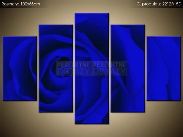 Tlačený obraz Tajomná modrá ruža 100x63cm 2212A_5D