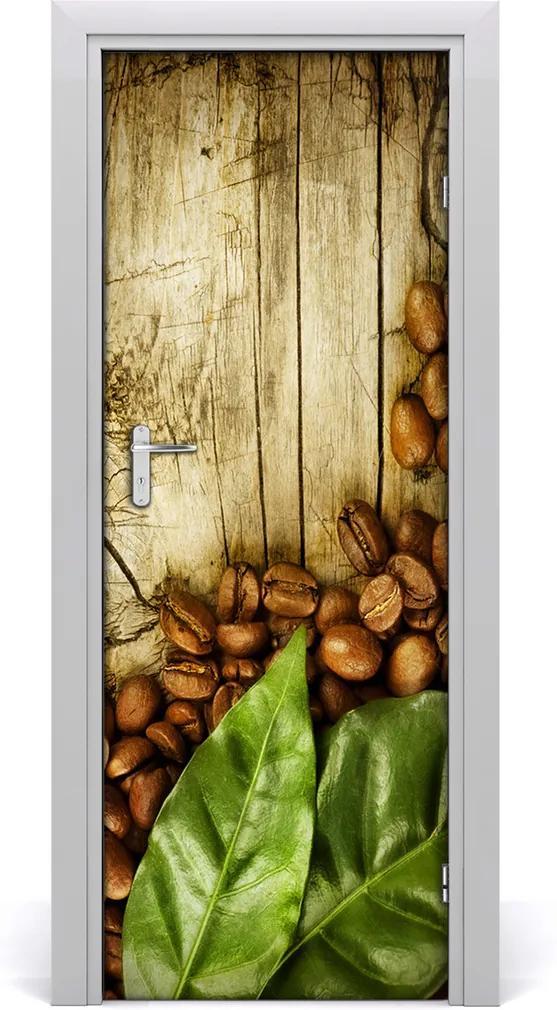 Fototapeta na dveře samolepící Zrnka kávy