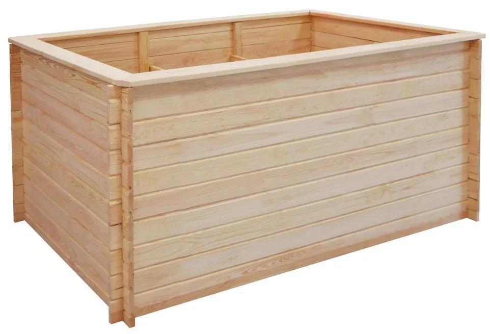 vidaXL Záhradný kvetináč 150x100x80 cm, FSC borovicové drevo 19 mm