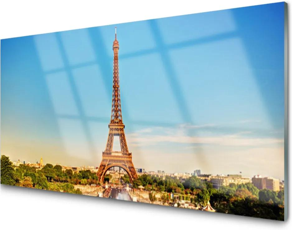 Obraz plexi Eiffelová Veža Paríž