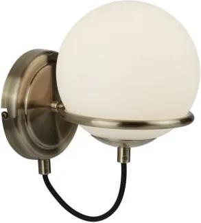 Interierové rustikálne svietidlo SearchLight Sphere WALL 7091AB