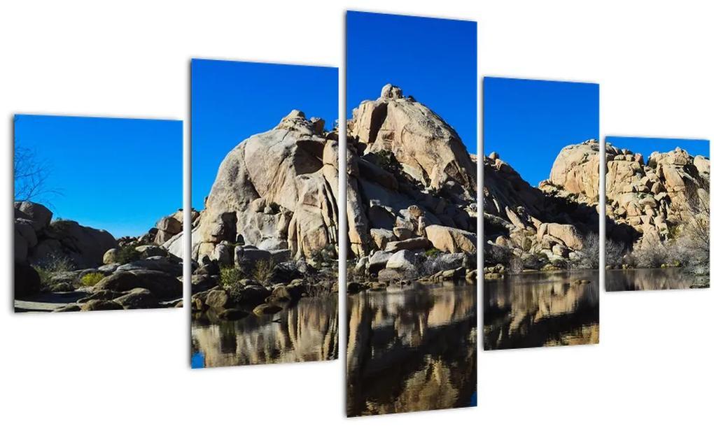 Obraz zrkadlenie skál (125x70 cm), 40 ďalších rozmerov