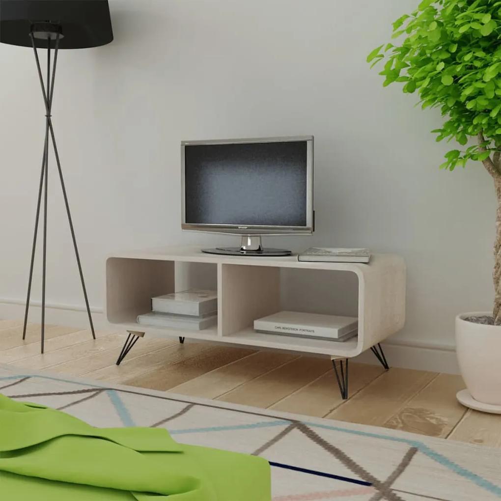 vidaXL Šedá drevená skrinka na TV  90 x 39 x 38,5 cm