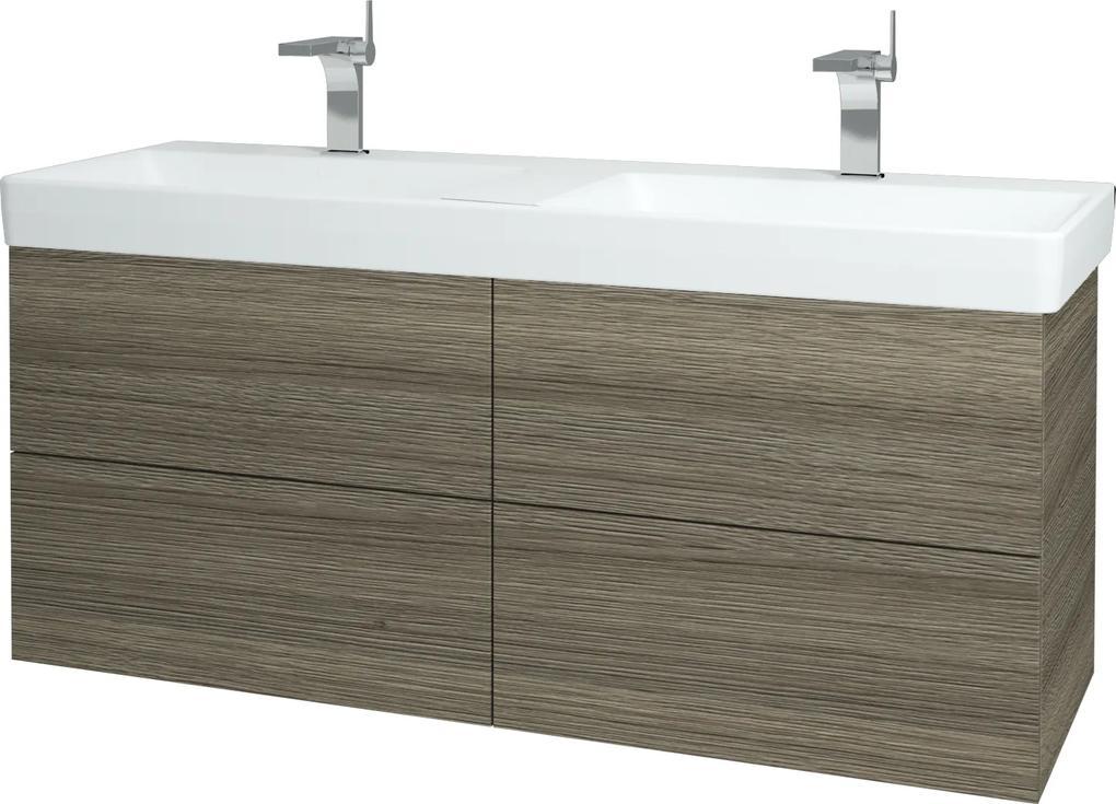 Dřevojas - Koupelnová skříň VARIANTE SZZ4 130 - D03 Cafe / D03 Cafe (165093)