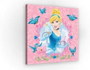 Obraz na plátne štvorec - OB2147 - Princezná - Popoluška 80cm x 80cm - O2
