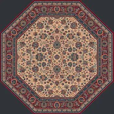 Lano luxusní orientální koberce Kusový koberec Royal 1516-505 osmiúhelník - 170x170 cm osmiúhelník cm