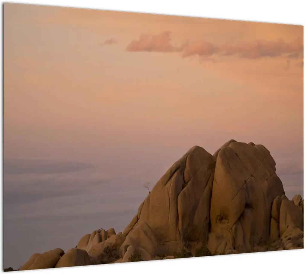Obraz západu slnka v skalách (70x50 cm), 40 ďalších rozmerov