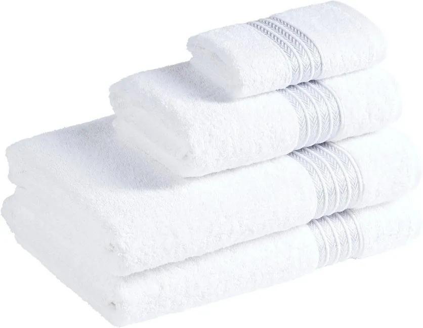 Škodák Froté uterák / osuška Maya vzor 001 biely - Malý uterák 30 x 50 cm