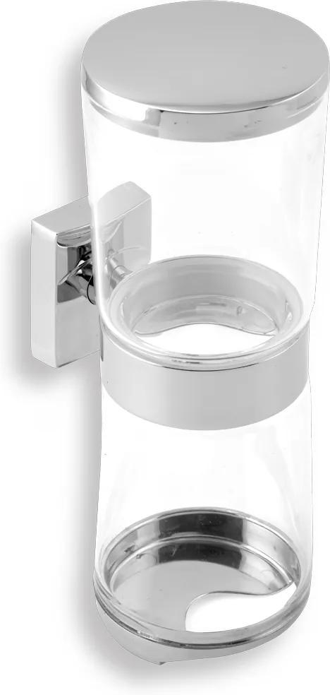 Novaservis Metalia 12 0282,0 zásobník kozmetických tampónov a tyčiniek