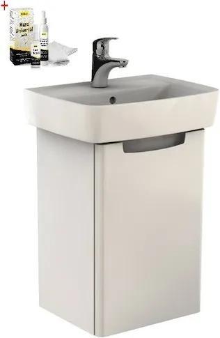 Kúpeľňová skrinka s umývadlom Kolo Rekord 50x75,1 cm biela lesk SIKONKOR40BL
