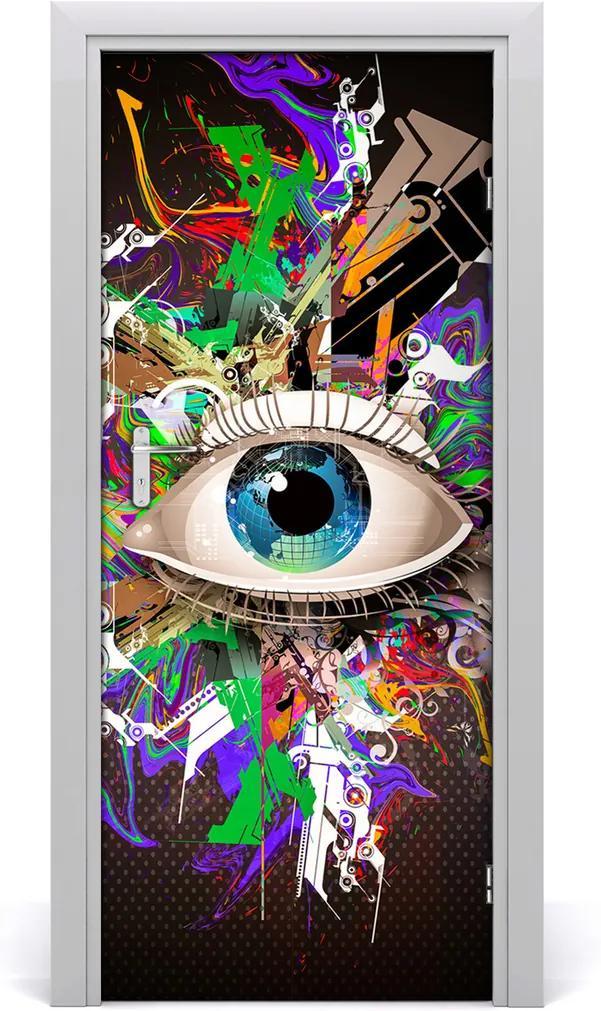 Samolepící fototapeta na dveře Abstrakce oko