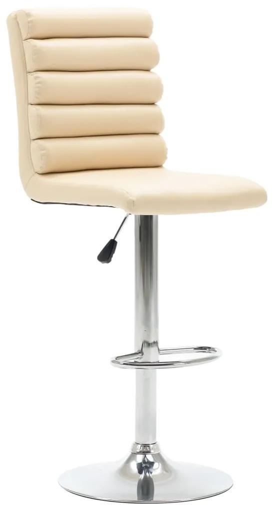 vidaXL Barová stolička krémová umelá koža