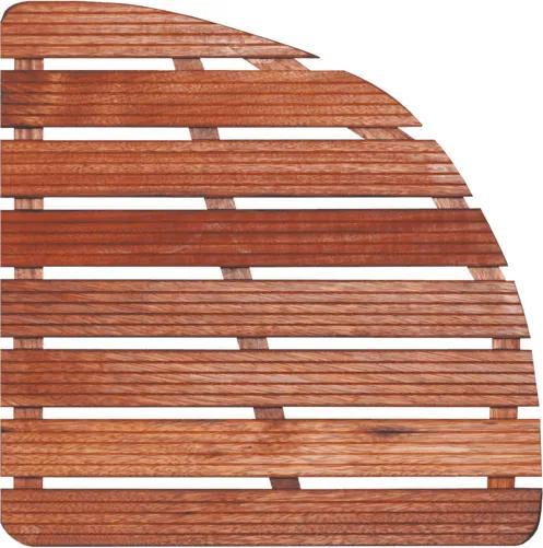 Sprchová rohož-drevo štvrťkruh 74x74x4cm ROHOZ90S