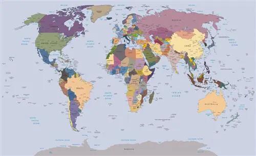 Vliesové fototapety, rozmer 104 x 70,5 cm, mapa sveta, IMPOL TRADE 2142 VE M