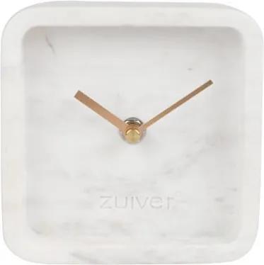 Biele nástenné mramorové hodiny Zuiver Luxury Time