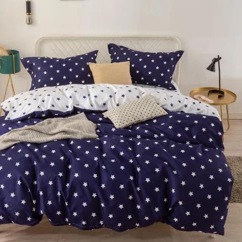 HOD Vianočné posteľné obliečky STAR BLUE 3 set 140x200cm
