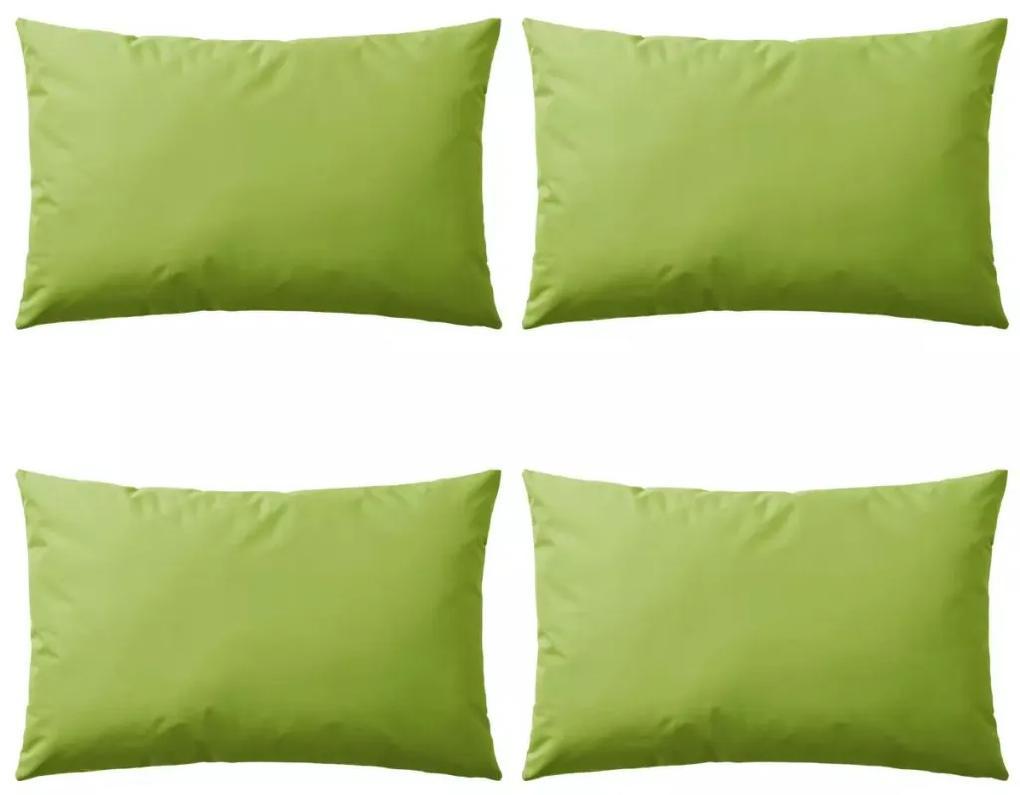 vidaXL Vankúše do exteriéru 4 ks jablkovo zelené 60x40 cm