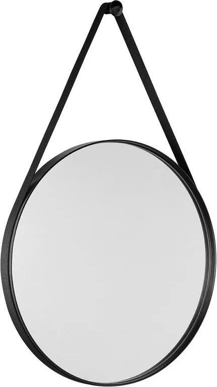Orbiter ORB060 zrkadlo guľaté s popruhom, 60 cm, čierna matná