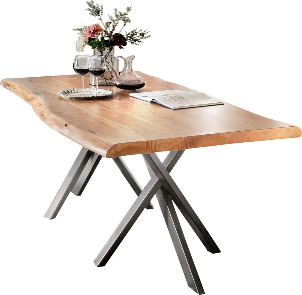 SIT MÖBEL Jedálenský stôl TABLES & BENCHES CURVE DOUBLE STAR 160 × 85 × 76 cm