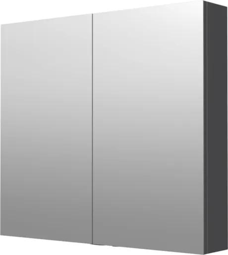 Zrkadlová skrinka Naturel 80x72 cm lamino šedostrieborná GALCA180