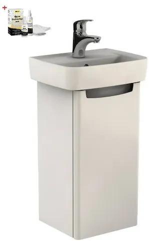Kúpeľňová skrinka s umývadlom Kolo Rekord 40x75,1 cm biela lesk SIKONKOR31BL