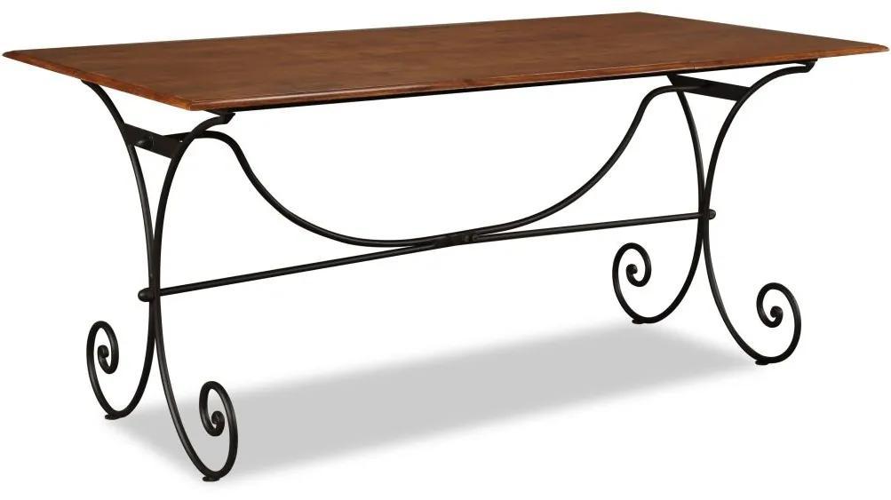 vidaXL Jedálenský stôl, drevo so sheeshamovou povrchovou úpravou, 180x90x76 cm