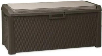 Multifunkčný úložný box Santorini Plus hnedá, 560 l