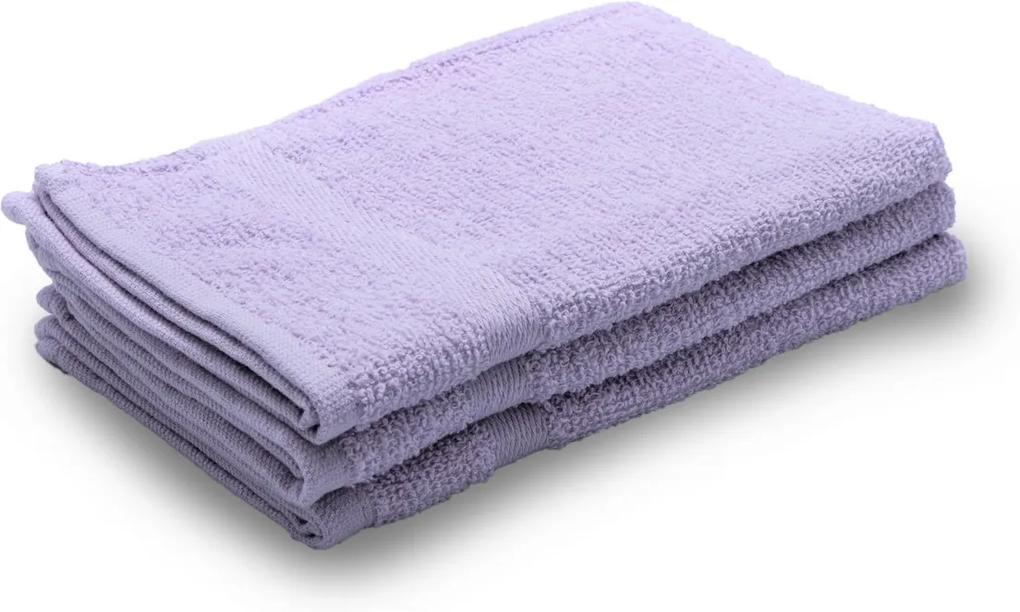 Detský uterák Basic svetlo fialový 30x50 cm