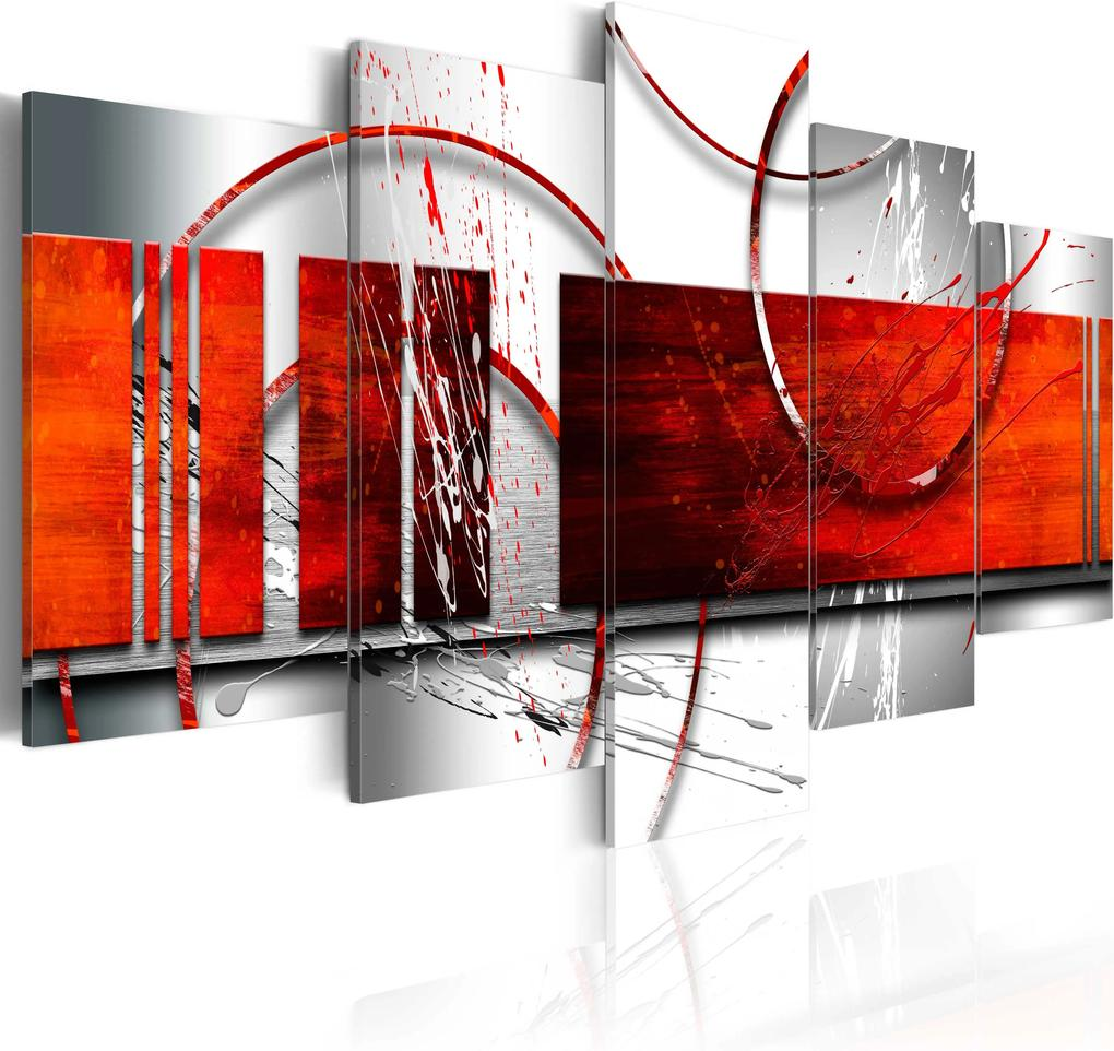 Obraz - Emphasis: red theme 100x50