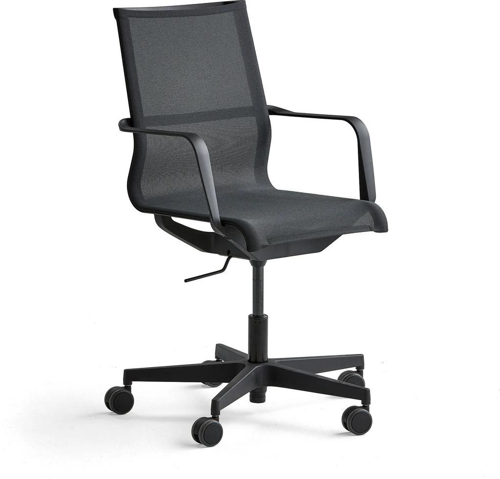 Konferenčná stolička Enfield, čierna