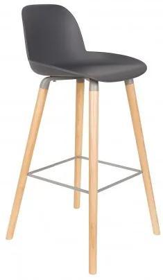 Barová židlička ALBERT KUIP, grey Zuiver 1500058