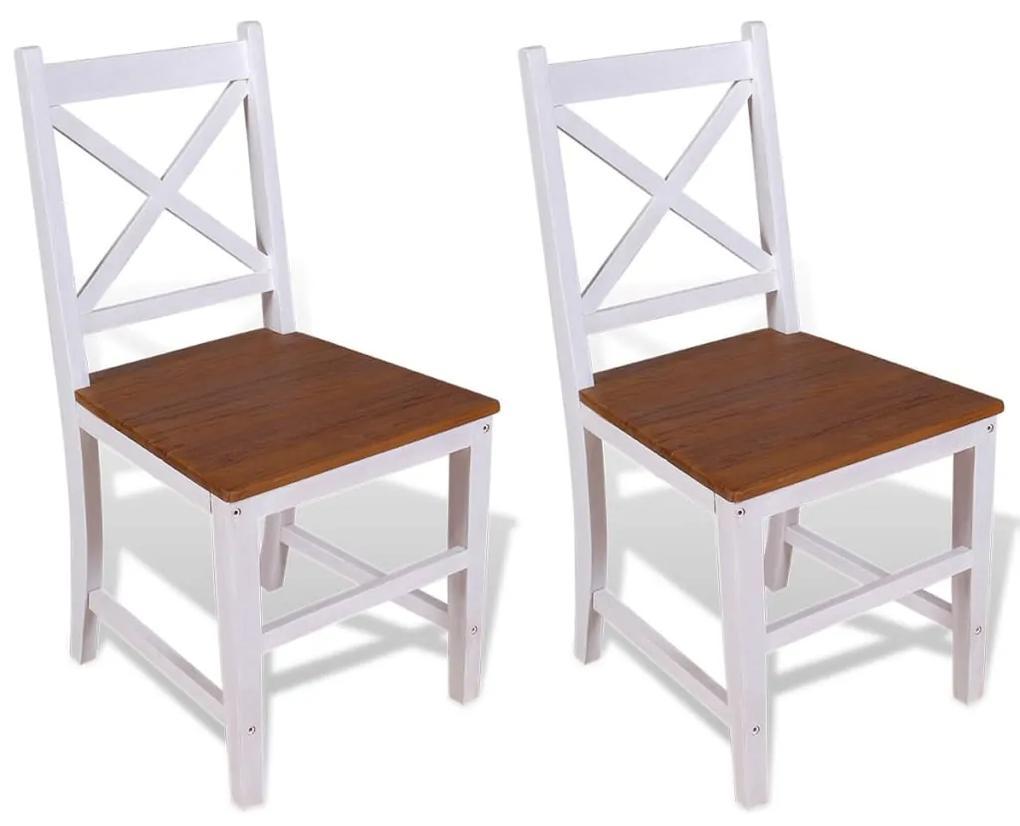 vidaXL Jedálenské stoličky, 2 ks, masívne teakové a mahagónové drevo