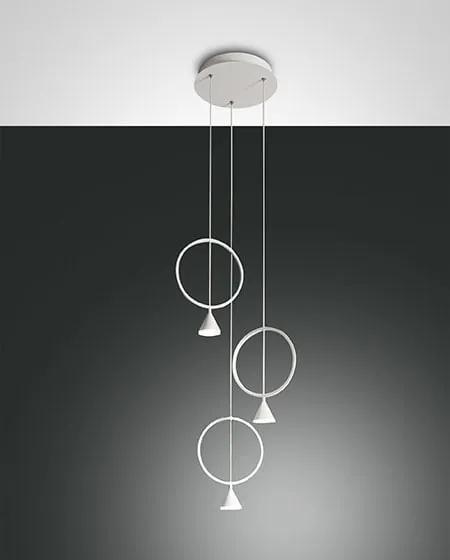 Závesné svietidlo FABAS SIRIO CIRCLE WHITE 3 3388-47-102