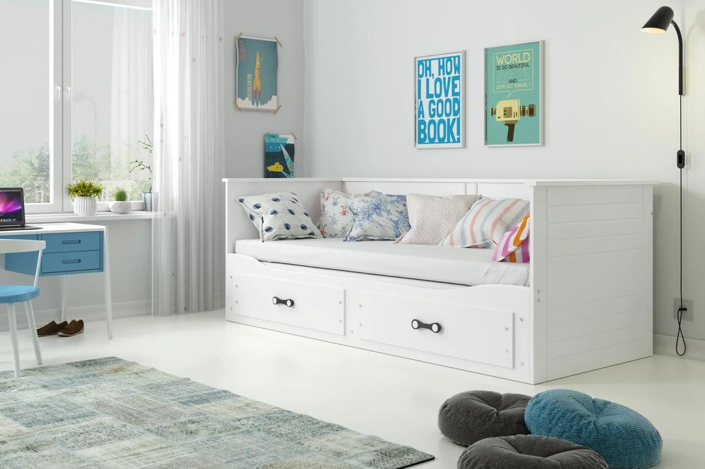 Rozkladacia posteľ HERMES 200x80cm BIELA