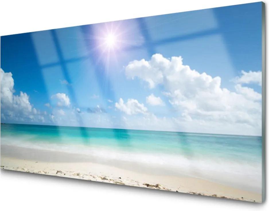 Obraz na skle Moře Pláž Slunce Krajina
