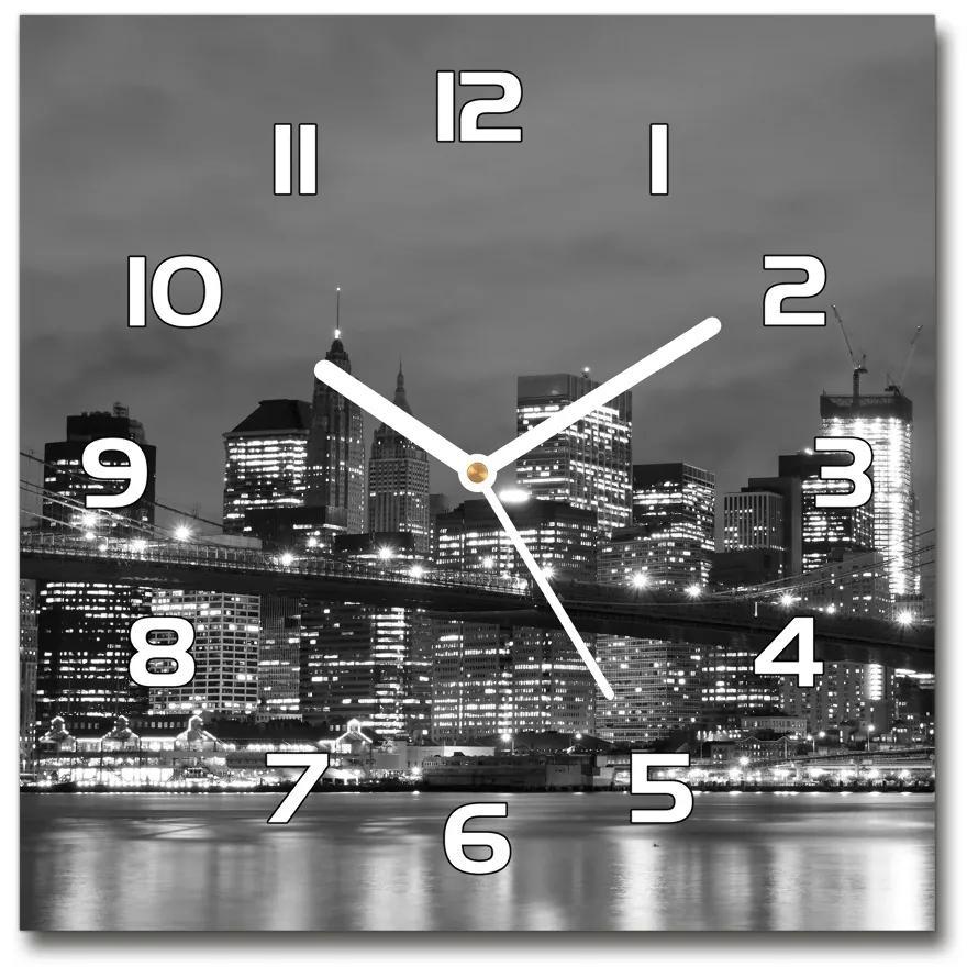 Sklenené hodiny štvorec Manhattnu Nev York pl_zsk_30x30_f_47820651