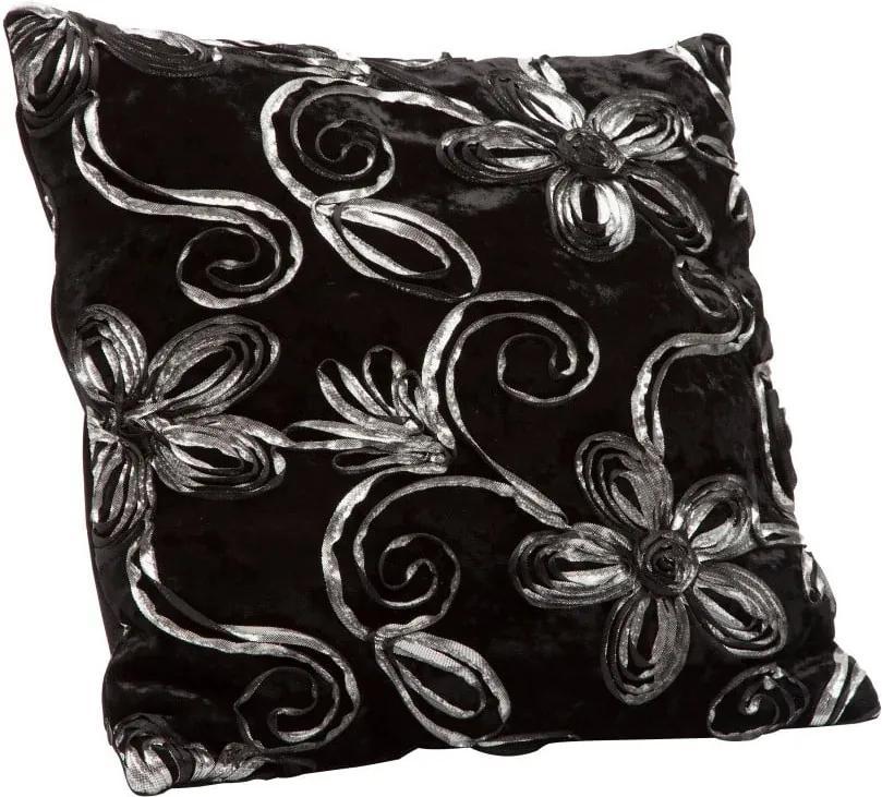 Čierna obliečka na vankúš Mauro Ferretti Cuscino, 40 × 40 cm