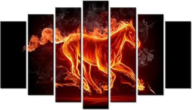 Tlačený obraz Ohnivý kôň 140x80cm 1172A_7B
