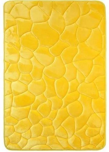 VOPI Kúpeľňová predložka s pamäťovou penou Kamene žltá, 40 x 50 cm