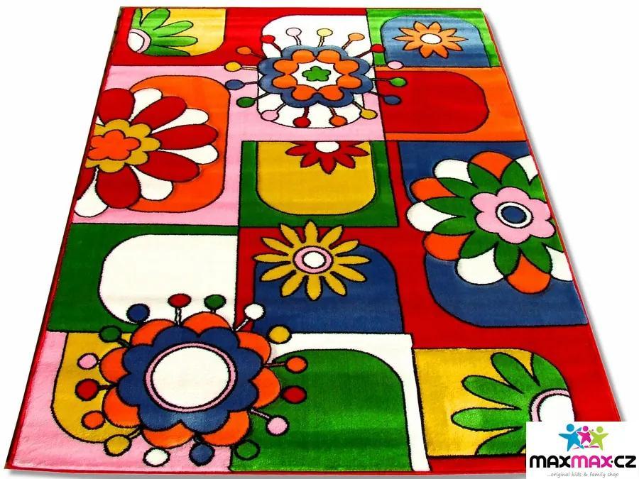 MAXMAX Detský koberec ČERVENÁ FANTAZIE