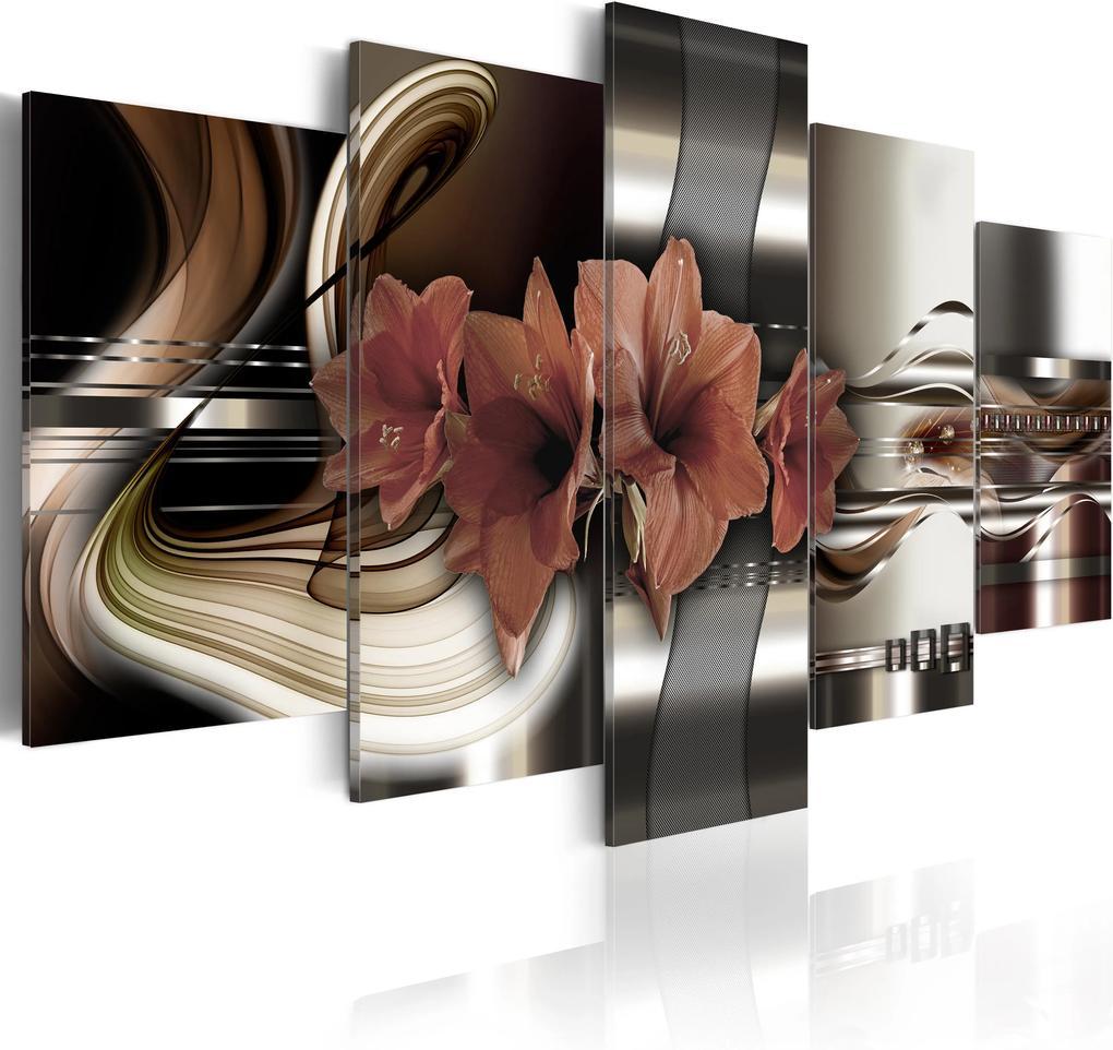 Obraz - Abstraction and Amaryllis 100x50
