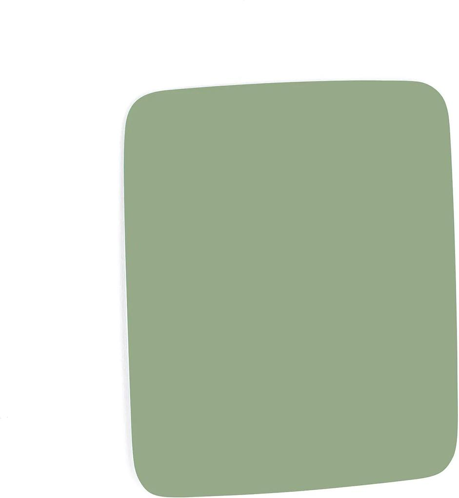 Sklenená magnetická tabuľa Stella so zaoblenými rohmi, 500x500 mm, pastelová zelená