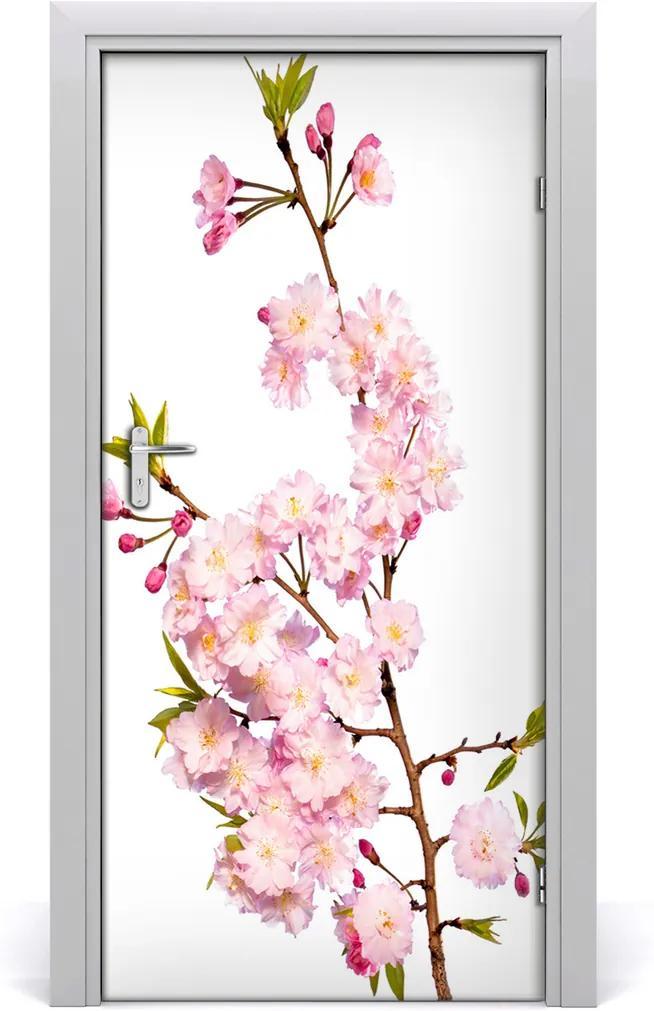 Samolepící fototapeta na dveře Květiny višně