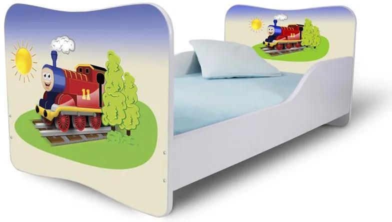 MAXMAX Detská posteľ VLÁČIK + matrac ZADARMO 160x80 pre chlapca NIE