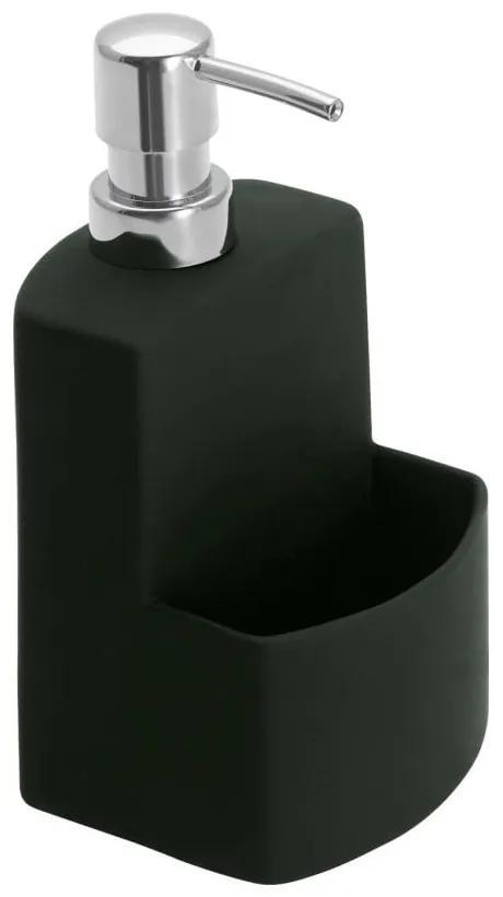 Čierny dávkovač na tekuté mydlo Wenko Festival
