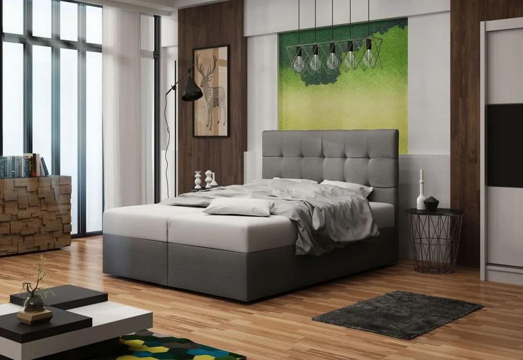Expedo Čalúnená posteľ DOUBLE 2, cosmic 160, 140x200 cm