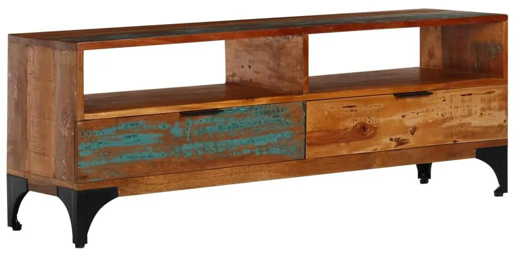 vidaXL TV skrinka 118x35x45 cm masívne recyklované drevo